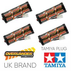 Overlander 4x 3300mah 7.2v Nimh Battery Pack Stick - Tamiya RC Car Boat