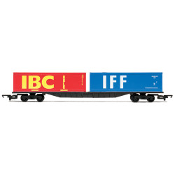 HORNBY Wagon R6425 Container Bogie with 2 x 30ft Containers - Railroad
