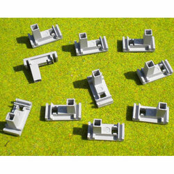SLOT TRACK SCENICS CFP10 Ten Fixing Clips Plastic Track - for Scalextric