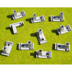 SLOT TRACK SCENICS CFP10 Ten Fixing Clips Plastic Track - for Scalextric