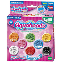 AQUABEADS Solid Bead Refill Pack 79168 Over 800 Aqua Beads