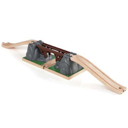 BRIO 33391 Collapsing Bridge for Wooden Train Set