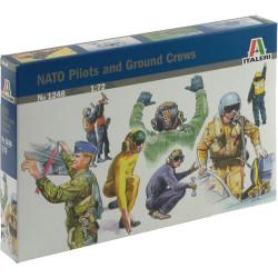 ITALERI NATO Pilots and Ground Crew 1246 1:72 Aircraft Figures Model Kit