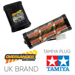 Overlander 3300mah 7.2v Battery & NX-20 2A NiMH Charger - RC Car Tamiya etc