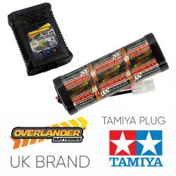 Overlander 3300mah 7.2v Battery & NX-20 2A NiMH Charger - RC Car Tamiya etc