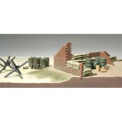 TAMIYA 32508 Brick Sandbag Barricade Set 1:48 Military Model Kit