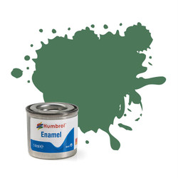 HUMBROL 101 Mid Green Matt Enamel 14ml Model Kit Paint