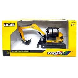 BRITAINS JCB Midi Excavator 1:32 Diecast Farm Vehicle 43013
