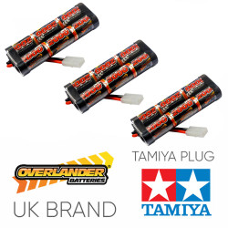 Overlander 3x 2000mah 7.2v Nimh Battery Pack Stick - Tamiya RC Car Boat