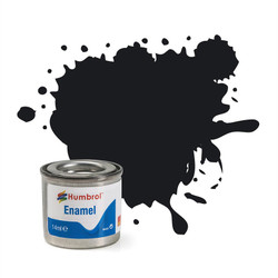 HUMBROL 21 Black Gloss Enamel 14ml Model Kit Paint