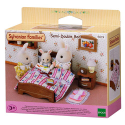 Semi - Double Bed - SYLVANIAN Families Dolls Furniture 5019