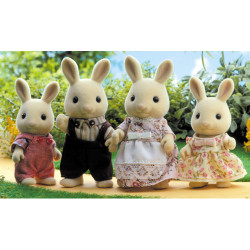 Buttermilk Rabbit Family - SYLVANIAN Families Figures 4108