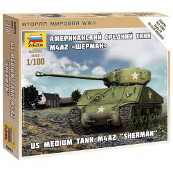 ZVESDA 6263 Sherman M-4 Tank 1:100 Model Kit