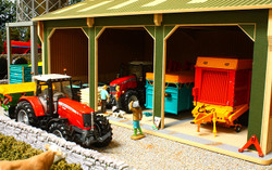 BRUSHWOOD BBB150 Open Barn  - 3 Bays Big Basics - 1:32 Farm Toys