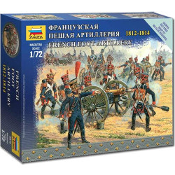 ZVEZDA 6810 French Foot Artillery Napoleonic 1:72 Figures Model Kit