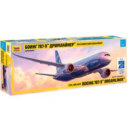 ZVEZDA 7021 Boeing 787-9 Dreamliner - Long Fuselage 1:144 Aircraft Model Kit