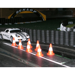 SLOT TRACK SCENICS ACC1 10 Traffic Cones - for Scalextric