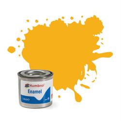 HUMBROL 154 Insignia Yellow Matt Enamel 14ml Model Kit Paint