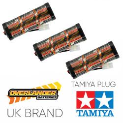 Overlander 3x 3300mah 7.2v Nimh Battery Pack Stick - Tamiya RC Car Boat