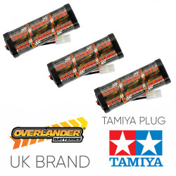 Overlander 3x 3300mah 7.2v Nimh Battery Pack Stick - Tamiya RC Car Boat