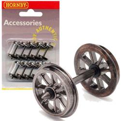 HORNBY R8098 Metal Spoked Wheel Sets Pack Of 10
