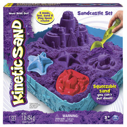 Kinetic Sand Box Set - Magic Play Sand & Moulds - Spinmaster