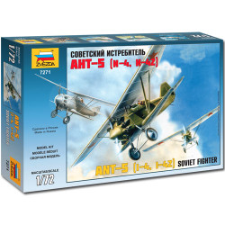 ZVEZDA 7271 ANT-5 Soviet Biplane Fighter 1:72 Aircraft Model Kit