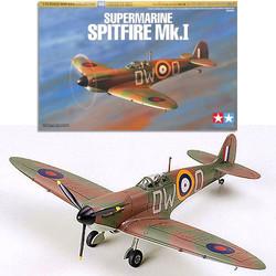 TAMIYA 60748 Supermarine Spitfire Mk.I 1:72 Aircraft Model Kit