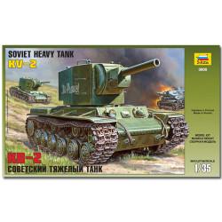 ZVEZDA 3608 KV-2 Soviet Tank Military Model Kit 1:35