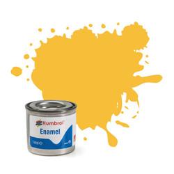 HUMBROL 24 Trainer Yellow Matt Enamel 14ml Model Kit Paint