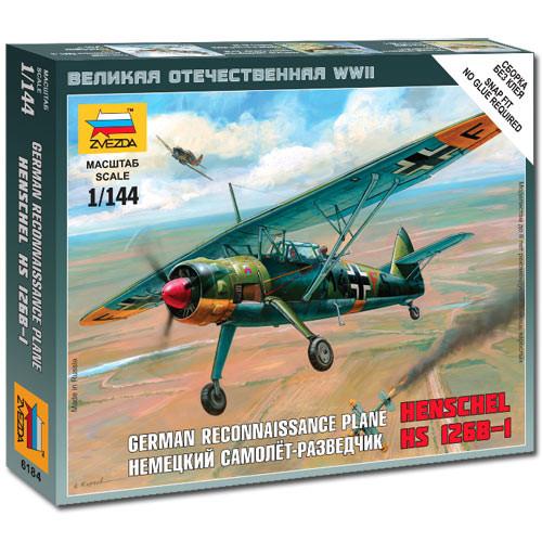 ZVEZDA 6184 Henschel 126B WWII 1:144 Aircraft Snap Fit Model Kit
