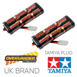 Overlander 2x 2000mah 7.2v Nimh Battery Pack Stick - Tamiya RC Car Boat