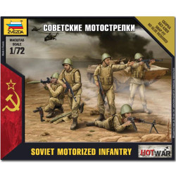ZVEZDA 7404 Soviet Motorized Infantry Snap Fit Model Kit 1:72 Hotwar