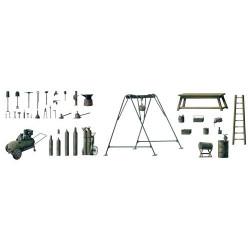 ITALERI 419 Field Tool Shop 1:35 Accessories Model Kit