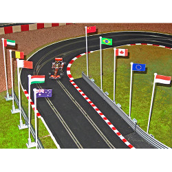 SLOT TRACK SCENICS FP A 10 Flags with Poles - for Scalextric