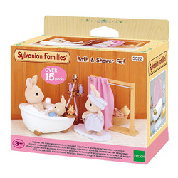 Bath & Shower Set - SYLVANIAN Families Dolls Furniture 5022