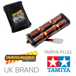Overlander 2000mah 7.2v Battery & NX-20 2A NiMH Charger - RC Car Tamiya etc