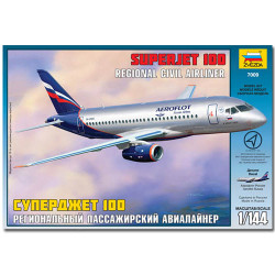ZVEZDA 7009 Sukhoi Superjet 100 Aircraft Model Kit 1:144