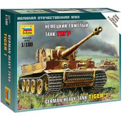 ZVESDA 6256 German Heavy Tank Tiger 1 1:100 Snap Fit Model Kit