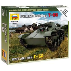 ZVESDA 6258 Soviet Light Tank T-60 1:100 Snap Fit Model Kit