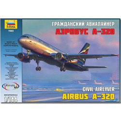ZVEZDA 7003 Airbus A-320 1:144 Aircraft Model Kit