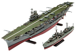 REVELL HMS Ark Royal & Tribal Class Destroyer 1:720 Ship Model Kit 05149