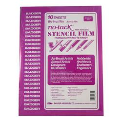 "BADGER Airbrushes Stencil Film 8 1/2""X11 (10 Sheets) BA461 461 Parts & Accs"