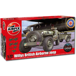 AIRFIX A02339 Willys British Airborne Jeep 1:72 Military Model Kit