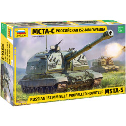 ZVEZDA 3630 MSTA Self Propelled Howitzer 1:35 Military Model Kit