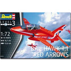 REVELL BAe Hawk T.1 Red Arrows 1:72 Aircraft Model Kit 04921