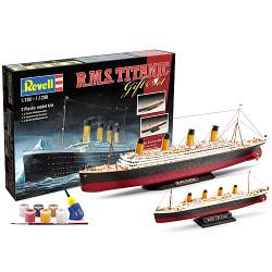 """REVELL Gift-Set """"Titanic"""" 2 models 1:700 1:1200 Model Kit - 05727"""