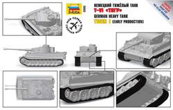 ZVESDA 5002 German Heavy Tank Tiger I Early Snap Fit 1:72 Tank Model Kit