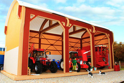 BRUSHWOOD Dutch Barn - Tractor Shed - 1:32 Scale Farm Toys BT8980