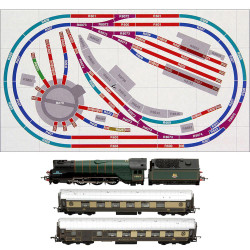HORNBY Digital Train Set HL6 compact Oval Layout with one Train & Turntable